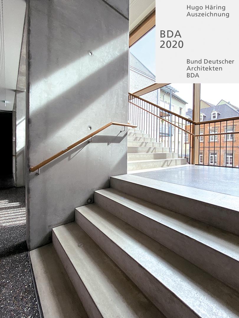 Hugo-Häring-Auszeichnung 2020 für Johann-Sebastian-Bach-Gymnasium, Haus der Naturwissenschaften mit Turnhalle